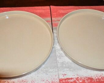 Robinson Ransbottom Pottery RRP Roseville Ohio White Stoneware Pizza Pan