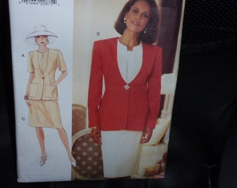 Vogue 9176 Jacket and Skirt Pattern Size 6-8-10  New Uncut