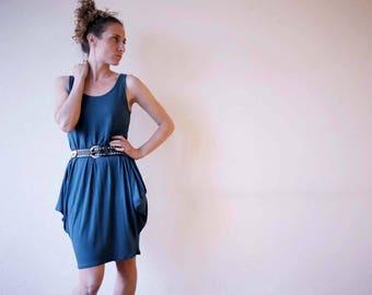 New for summer!! Harlequin - peplum style dress - activewear - athleisure - sportswear. Black and Petrol blue. Onesize
