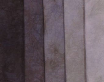 Hand Dyed Fabric Shades - Thistle