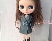 rêve de Rui x Blythe - Turquoise suede trench coat