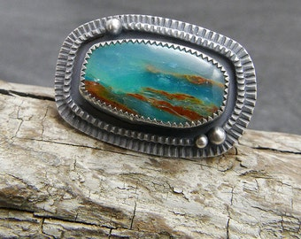 Peruvian Opal and Sterling Silver Ring
