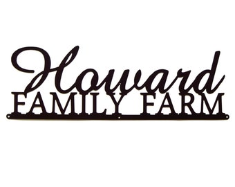 Personalized Family Farm Metal Art - Free USA Shipping