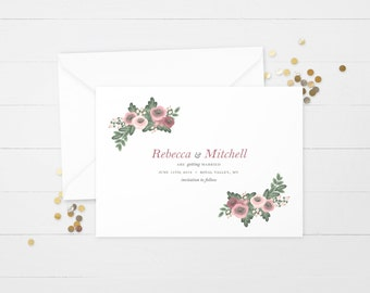 The 'Zara' Watercolour Wildflower Save the Date Announcement