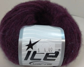 Ice, Acrylic, Alpaca, Wool, Viscose, DK, Burgundy