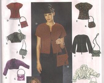 Evening Jackets Shrug and Purses Simplicity 9016 Long or Short Sleeve Shrug Knit Jacket faux fur trim Size 14 16 18 20