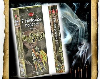 Seven African Powers Incense - 20 Sticks, handmade HEM spiritual supplies