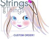 Custom Order for Barbara Suri Alpaca Accent Dread Lock Set for Dolls 8 inches long