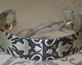 Sterling Silver Cuff Damask