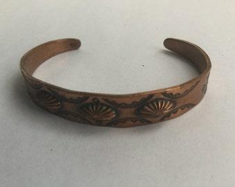 Vintage Native American Copper Cuff Bracelet