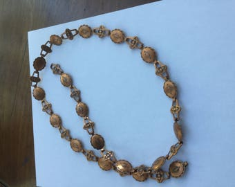 Vintage Native American Copper Belt ot Necklace 1960s