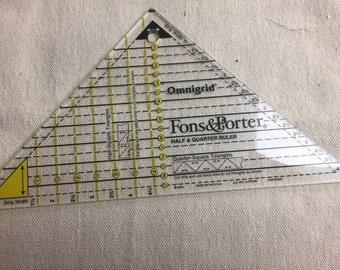 Fons& Porter Half and Quarter Ruler