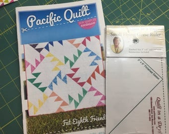 new Pacific Quilt Pattern and Flying Geese Ruler Set