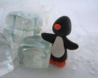Miniature Penguin /polymer clay /mini penguin / winter