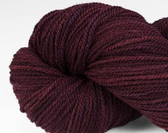 Handpainted DK weight yarn, locally grown and spun Targhee wool, Meriwether, 100 g, Flathead Cherry