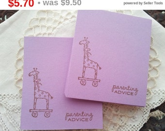 SALE Baby Shower Mini Wish Cards Giraffe Parenting Advice Set of 25