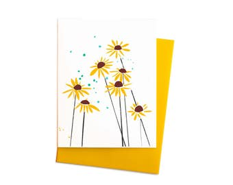 Black-Eyed Susans Sunflowers Boxed Set of Note Cards Blank Thank You Notes