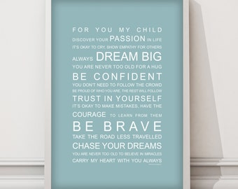 For my Child wall art print