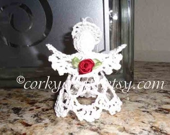 Crochet angel, cherub ornament, valentines gift, gift for parents, christening gifts, hostess gifts