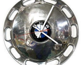 Wall Clock made from a recycled 1967 - 1973 BMW 2002 Hubcap - 1968 1969 1970 1971 1972