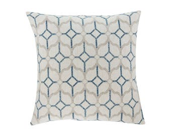 BLUE Pillow Cover.Decorator Pillow Cover.Home Decor.Large Print. ROCKAWAY NAVY. Cushions. Cushion.Pillow. Premier Prints