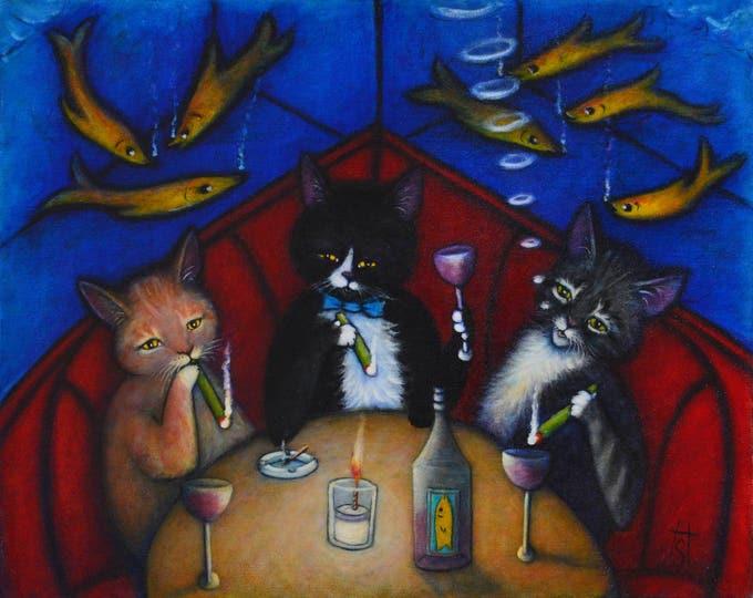 The Catnip Lounge.  8 x 10 print