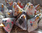 Upcycled Chicks, Lavender Chicks, Baby Chicks, Upcycled Old Quilt Chick Pincushion or Basket Filler~Reuse, Repurpose, Remade, Old Quilt