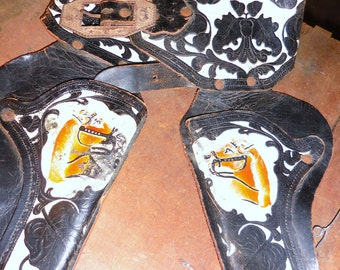 Hand Painted  Horses Hubley Holster When Boys Became Cowboys / Offers Considered