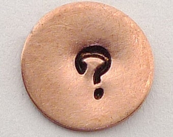 Metal Steel Stamps QUESTION MARK Design Stamp Jewelry Stamping - The Urban Beader