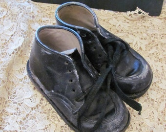 Antique Leather Infant Child Shoes Boots Booties Stride Rite
