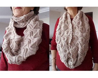 Knitting Pattern, Knit Infinity Scarf Pattern, Knit Pattern, Scarves, Scarf, Pictured Tutorial, Wrap Scarf