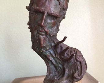 Vintage Bronze statue of King Neptune by David Bardos