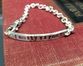 Sterling Silver Personalized ID Style Bracelet