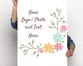 """24"""" x 36"""" Large Poster Use Own LOGO or PHOTO Design Custom Personalized Quantities 1-200"""