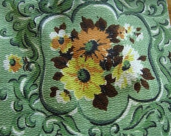 Vintage cotton has a barkcloth look to it but is a lite wt cotton