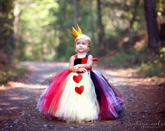 Queen of Hearts Tutu Dress and Crown