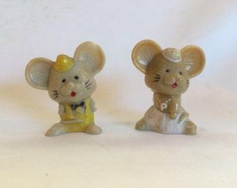 Vintage Mice Salt and Pepper Shakers