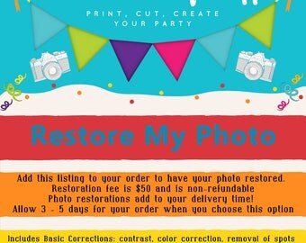 ADD Photo Restoration to my Design Instant Downloads DO Not Qualify for this ADD on