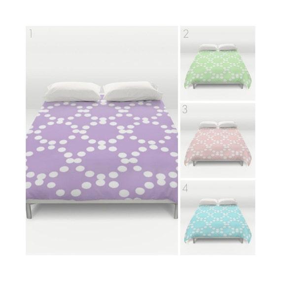 Twin XL Modern Duvet Cover - Lavender duvet cover - Blush Pink duvet cover - queen duvet - king duvet cover - full duvet cover - Mint Green