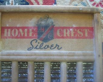 Vintage Home Crest Silver Washboard