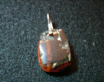 Burmese (Burmite) Amber and Sterling Silver Pendant