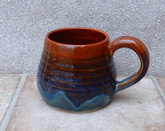 Cuddle mug coffee tea cup in stoneware hand thrown ceramic pottery handmade