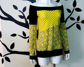 Pikachu Off Shoulder Shirt / Top • Medium / Large • Pokemon
