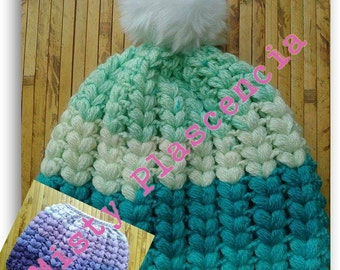 Double Bobble Beanie and Bun beanie PATTERN ONLY