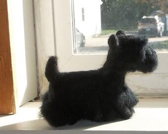 Scotty Terrier Felted Sculpture
