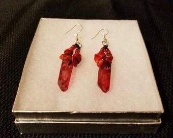 Red Lyrium Earrings