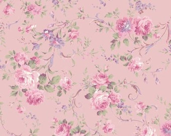 RURU Classic Library Collection  Cotton Fabric Quilt Gate RU2290-12B  Random Roses