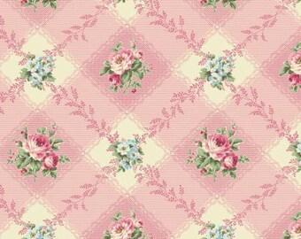 Ruru Bouquet Love Rose Love Cotton Fabric Rose ru2300-12e Roses on dark pink