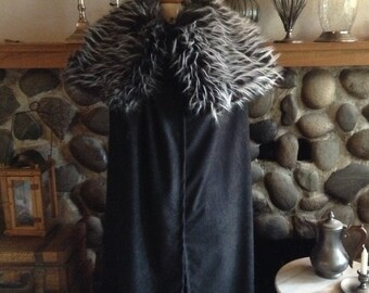 Medieval Viking Cloak Renaissance Norsemen Barbarian Fur Cape