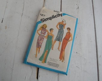 Vintage 1980s Simplicity Sewing Pattern 6431 Dress Sash Size 8 10 12
